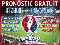 Pronostic Italie Irlande Euro 2016 - Foot