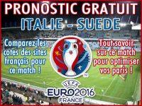 Pronostic Italie Suède Euro 2016 - Foot