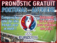 Pronostic Portugal Autriche Euro 2016 - Foot