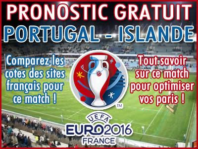 Pronostic Portugal Islande Euro 2016 - Foot
