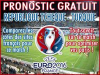 Pronostic République Tchèque Turquie Euro 2016 - Foot