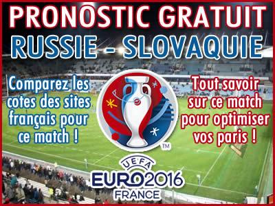 Pronostic Russie Slovaquie Euro 2016 - Foot