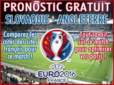 Pronostic Slovaquie Angleterre Euro 2016 - Foot