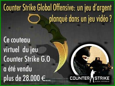 Counter Strike Global Offensive, un jeu d'argent ?