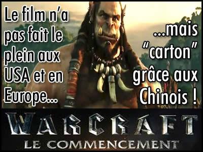 Warcraft le Commencement, un film sauvé pas les Chinois.