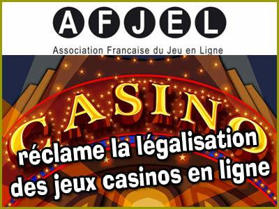 AFJEL : nous réclamons les jeux casinos en ligne.