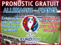Pronostic Allemagne France Euro 2016 - Foot
