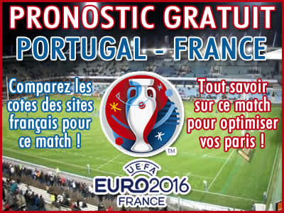 Pronostic Portugal France Euro 2016 - Foot