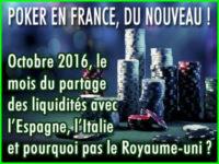 Poker France: Octobre, le mois du partage des liquidités ?