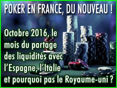 Poker France : Octobre, le mois du partage des liquidités ?