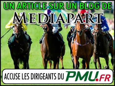 PMU, blanchiment d'argent ? Un blog de Mediapart accuse...
