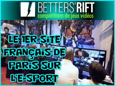 Betters Rift, le premier site français de pari sur l'e-sport.
