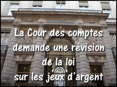 La Cour des Comptes et les jeux d'argent en France.