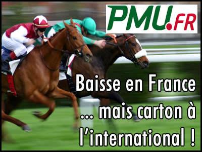 PMU baisse en France, mais carton à l'international !