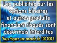 Options binaires et Forex: les publicités sont interdites.