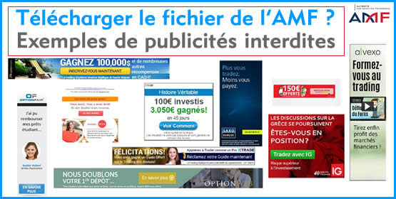 Publicités sur les options binaires et Forex désormais interdites par l'AMF.