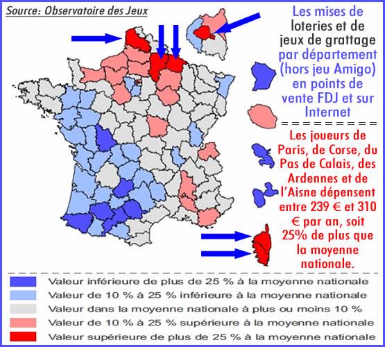 Loteries, jeux de grattage: qui dépense le plus en France ?