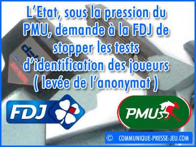 L'Etat ordonne à la FDJ de stopper ses tests d'identification des joueurs.