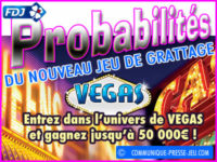 Nouveau jeu grattage Vegas, probabilités de gagner le jackpot.