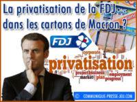 La privatisation de la FDJ dans les cartons de Macron ?