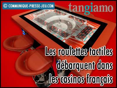 La roulette tactile débarque dans les casinos français.