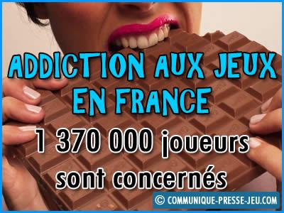 Addiction aux jeux en France, 1 370 000 joueurs concernés.