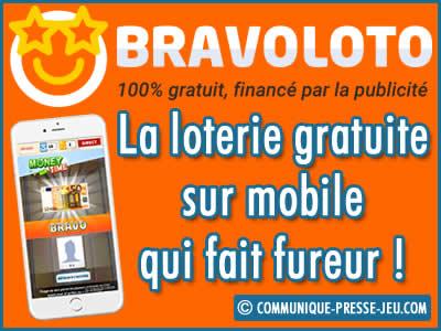 Bravoloto, la loterie gratuite sur mobile qui fait fureur !