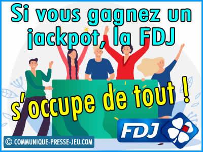 Les joueurs gagnants de la FDJ sont accompagnés.
