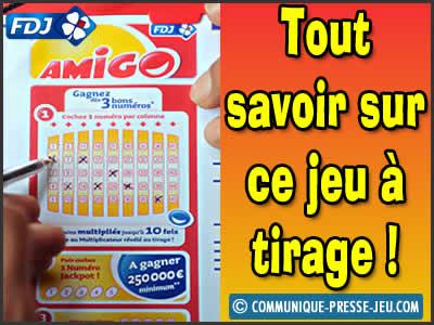 Amigo, la loterie de la FDJ avec un tirage toutes les 5 minutes.