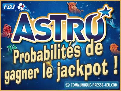 Astro, jeu de grattage de la FDJ, les probabilités de gagner.