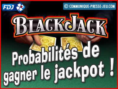 Jeu de grattage Black Jack de la FDJ, les probabilités de gagner.