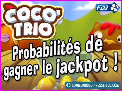 Jeu de grattage Coco Trio de la FDJ, les probabilités de gagner.