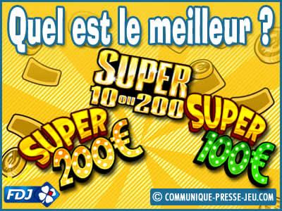 Jeux de grattage Super 100, Super 200, Super 10 ou 200, lequel choisir ?