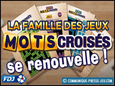 La famille des jeux de grattage Mots Croisés se renouvelle !