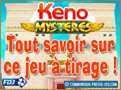Keno Mystères, tout savoir sur ce jeu de la FDJ.