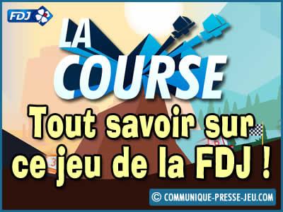 La Course, jeu de la FDJ qui vous permet de gagner jusqu'à 75 000 euros.
