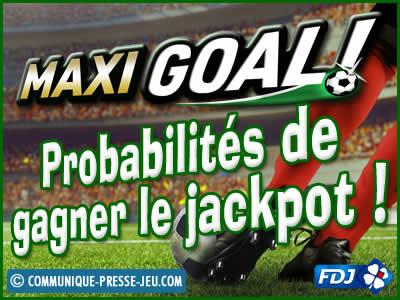 Jeu de grattage Maxi Goal de la FDJ, les probabilités de gagner.