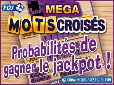 Méga Mots Croisés, jeu de grattage FDJ, les probabilités de gagner.