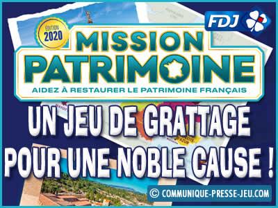 Jeu de grattage Mission Patrimoine de la FDJ, une cause noble !