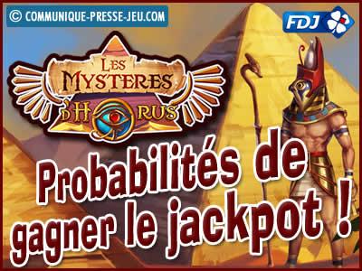 Jeu de grattage Les Mystères d'Horus de la FDJ, les probabilités de gagner.