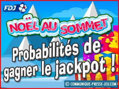 Jeu de grattage Noël au Sommet de la FDJ, les probabilités de gagner !