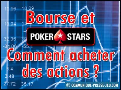 PokerStars est coté en bourse : comment acheter des actions ?