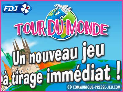 Tour du Monde, un jeu à tirage immédiat de la FDJ - Les probabilités ?