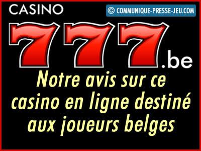 Casino 777, notre avis sur ce casino en ligne pour les joueurs belges.