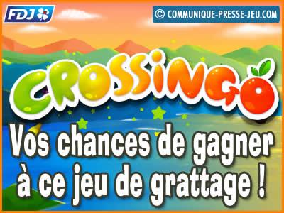 Jeu de grattage Crossingo de la FDJ, vos chances (probabilités) de gagner !