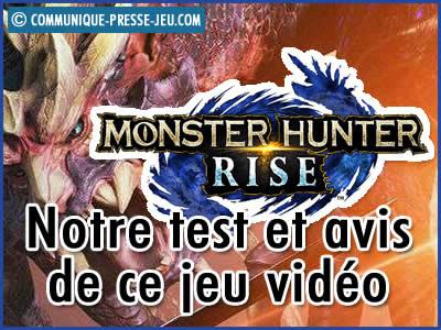 Monster Hunter Rise, notre test et avis sur ce jeu vidéo.