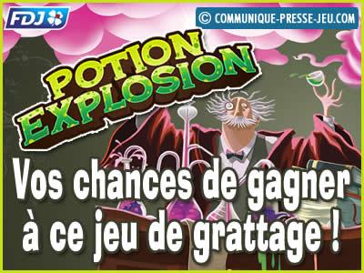 Jeu de grattage Potion Explosion de la FDJ, vos chances de gagner !