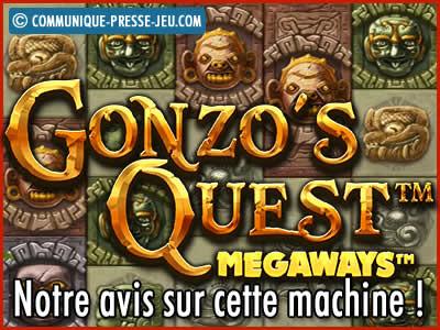 Machine à sous Gonzo's Quest Megaways de Red Tiger - Notre avis sur cette slot.