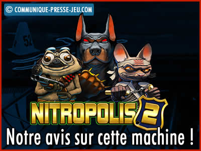 Machine à sous Nitropolis 2 de ELK Studios - Notre avis sur cette slot.