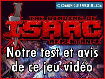 The Binding of Isaac Repentance, notre test et avis sur ce jeu vidéo.